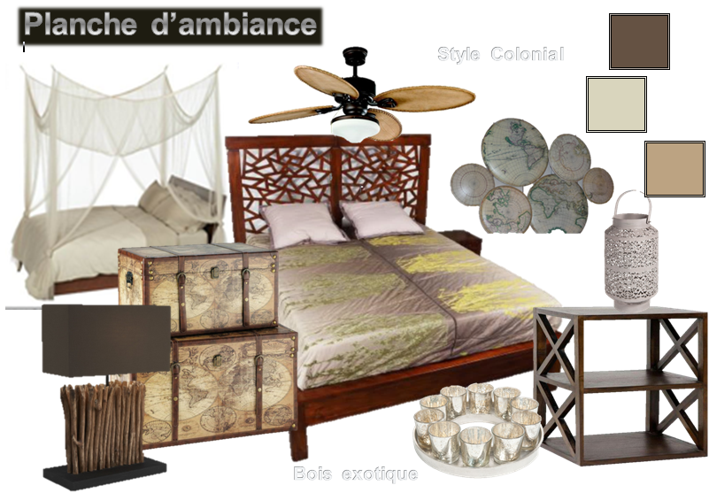 planche ambiance coloniale. Black Bedroom Furniture Sets. Home Design Ideas